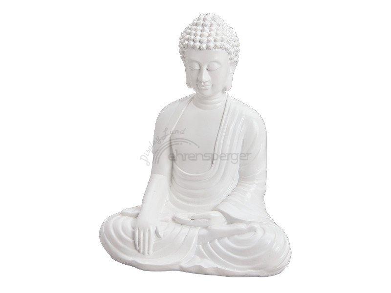buddha sitzend weiss 28cm hoch. Black Bedroom Furniture Sets. Home Design Ideas