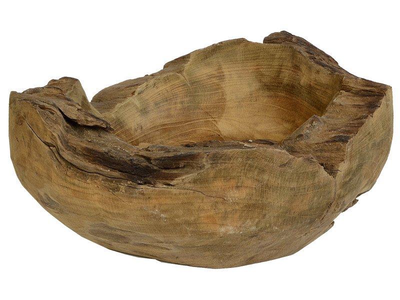 Schale teakholz rund 30cm for Runde ausziehtische aus holz