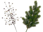 Christmas branches in elegant design...