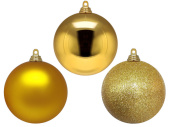 christmas ball B1 champagne, various sizes/versions