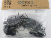 LED LV ExString Light 24 V1 schwarz, L 10m, 100 LED...