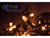 LED-ExString TwinkleLight 40 Kabel schwarz, 40 LEDs, 4m,...
