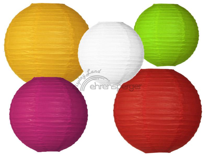 lampion ronde en div tailles couleurs sfr 5 40. Black Bedroom Furniture Sets. Home Design Ideas