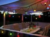 Lichterkette Partylight E27 outdoor ohne Birnen