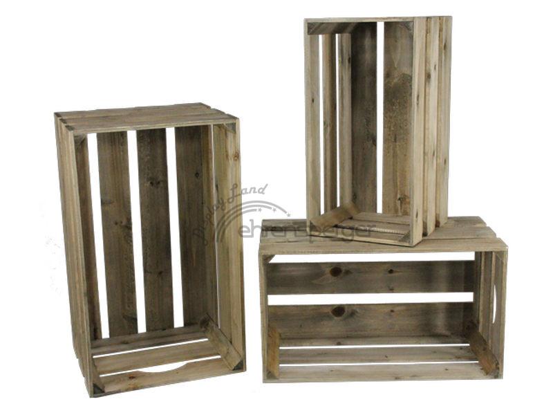 holzkisten set big 3 tlg braun sfr 99 00. Black Bedroom Furniture Sets. Home Design Ideas