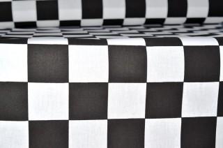 stoff racing karo schwarz weiss 140cm breit sfr 14 90. Black Bedroom Furniture Sets. Home Design Ideas
