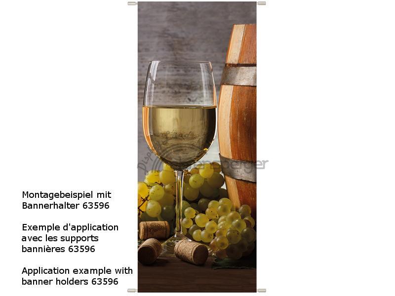 Textilbanner weinglas mit weinfass 75 x 180cm sfr 36 50 - Weinfass dekorieren ...