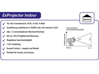 ExProjector indoor RGBW oder Weiss
