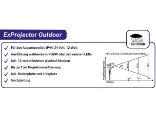 ExProjector outdoor RGBW oder Weiss