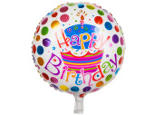Folienballon Happy Birthday Torte Ø 45cm