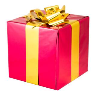 Geschenkpaket Mit Schleife Paket Rot Schleife Gold 1 Stuck 40