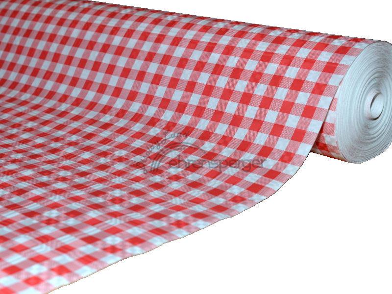 tischtuch papier rot weiss kariert 50m sfr 39 00. Black Bedroom Furniture Sets. Home Design Ideas