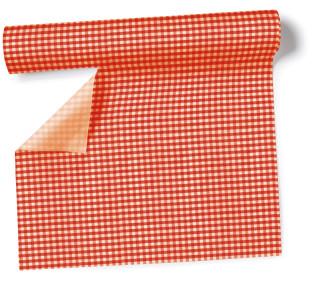 Tischlaufer Tischset Vichy 40cmx3 6m Rolle Rot Weiss Perforiert