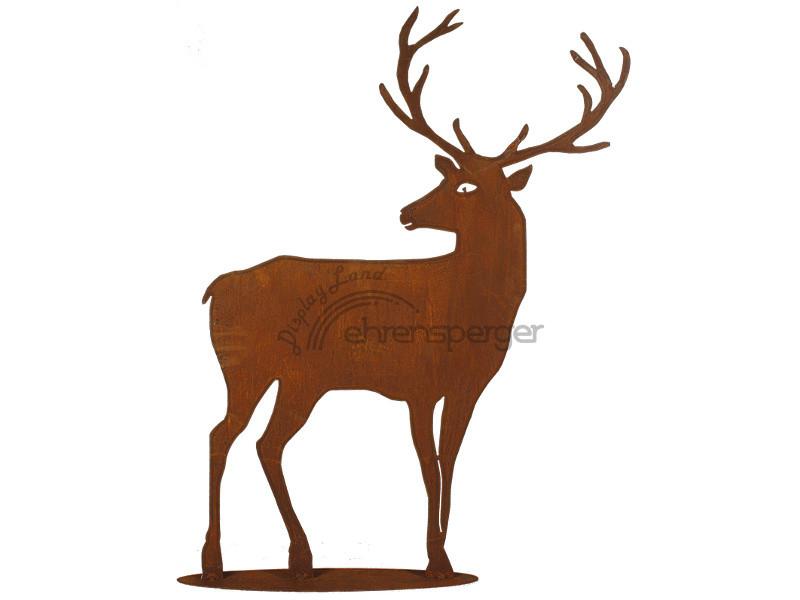 Deer Metal Rust Look 98cm Sfr 79 00