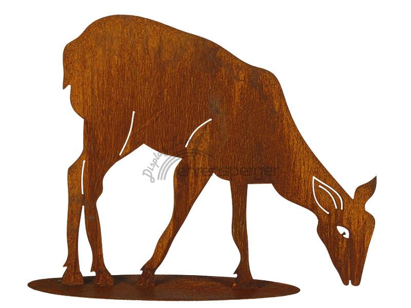 Reh send aus metall rostlook 50cm sfr 49 00 for Tiere aus metall gartendeko
