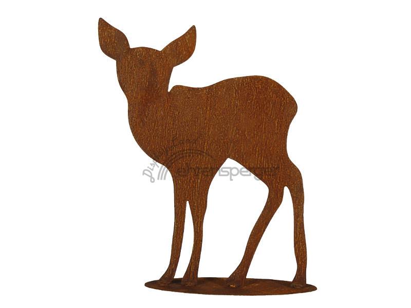 Rehkitz aus metall rostlook 40cm sfr 29 50 for Tiere aus metall gartendeko