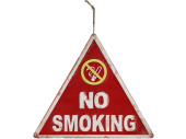 Schild No Smoking rot/weiss, 40 x 35 x 0.5 cm