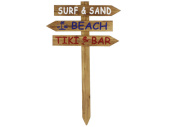 Wegweiser Surf Beach Bar braun, 90 x 54 x 1.8 cm