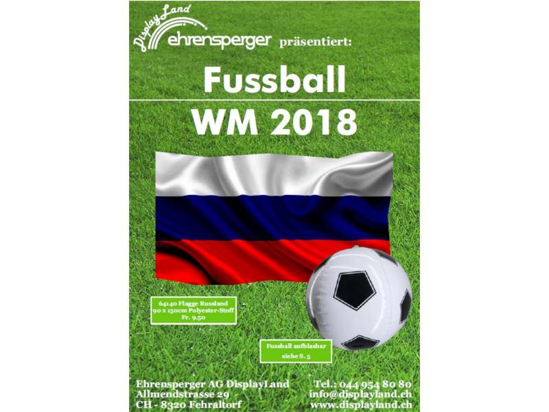 Fussball WM 2018 Deko- und Fanartikel - Flyer DispayLand