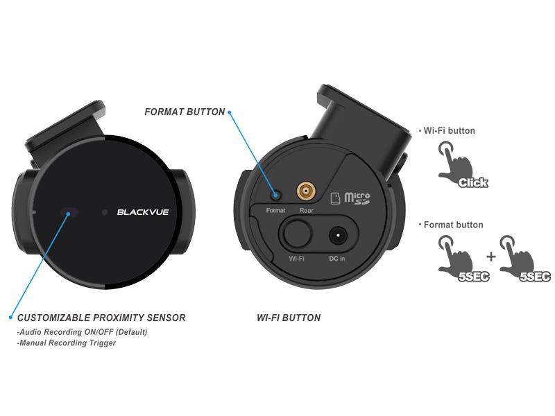 BlackVue Dashcam Wi-Fi Multifunktionstaste